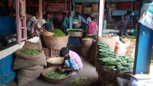 The scene at Dadar market in Mumbai.