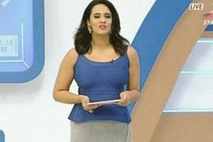 The focus was on Mayanti Langer Binny and her in-studio style during Sunday's India-Pakistan cricket match.