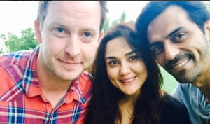 Arjun Rampal met actor Preity Zinta and husband Gene Goodenough in LA and posted their picture on Instagram, tagging Preity's unofficial Instagram account.