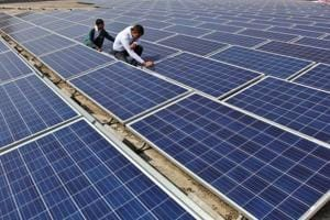 Five year ago solar companies in India were producing a kilowatt-hour for Rs.7. It's now down to Rs.2.44 - even cheaper than coal.
