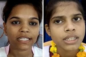 Tejaswi Devi (right) with 95.83% topped in Class 10 exams and Priyanshi Tiwari with 96.20 aced the Class 12 exams. Both are from Fatehpur district.