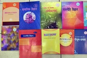 The Rajasthan board's new class X, XI and XII books. Education experts are calling the revisions in history as 'Hinduisation' of India's freedom struggle.