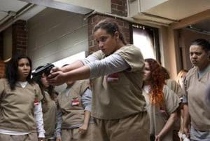 Jessica Pimentel and Dascha Polanco in Orange Is the New Black.