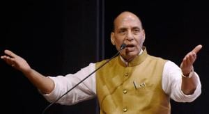 Home minister Rajnath Singh accused some political parties of fanning the farmers unrest in MP and Maharashtra.