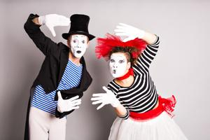 This summer workshop is being organised for children in the 10-14 age group in the Capital. (Portrait of mime artists, for representation only).