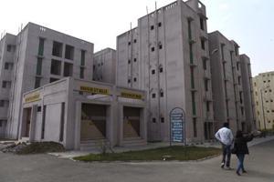 DDA flats in Sector 34 in Rohini area in New Delhi.
