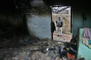 House of a Muzzafarnagar riot victim, Uttar Pradesh. In many incidents of violence, including Muzaffarnagar, WhatsApp messages played a negative role.