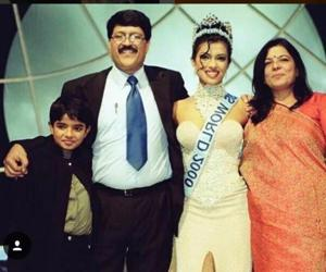 Actor Priyanka Chopra shared a family picture from the time she won the Miss World pageant in 2000.