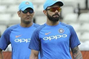 Birmingham: India captain Virat Kohli, right, and India