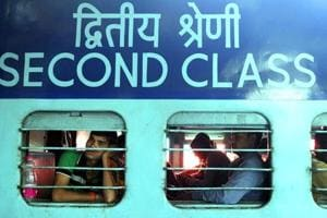 File photograph of a train.  Five women travelling in a train from Jharkhand to Bhopal were detained by railway police in Satna onTuesday on suspicion of a religious conversion racket.