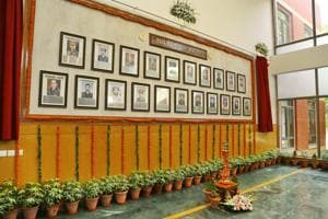 The Wall of Heroes in Delhi University has portraits of 21 soldiers who have been awarded the Param Vir Chakra .