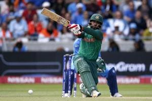 Tamim Iqbal scored 70 off 82 in the ICC Champions Trophy semi-final between India and Bangladesh at Edgbaston, Birmingham.