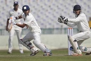 Delhi's Gautam Gambhir playing a shot in a match against Odisha during a Ranji Trophy match, Mohali, Punjab. If Delhi has now come to equal Bombay and Karnataka, a great deal of credit must go to coaches like Tarak Sinha who groomed the cricketers who have since won their teams Ranji titles, Test matches, international one-day championships, and more
