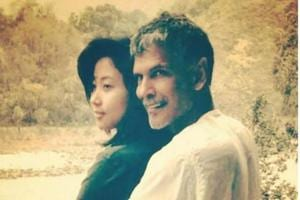 Actor-model Milind Soman shared this picture of his lady love on Instagram