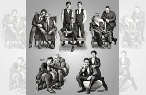 Some of the most celebrated proud dads pose with their sons in an exclusive photo shoot this Father's Day.