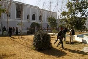 File photo of the guesthouse in the Kandahar governor's compound after the bomb blast that killed 13 people, including the envoy of the United Arab Emirates.