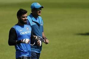 Will Anil Kumble (R) continue as Indian cricket team's coach is the big question.