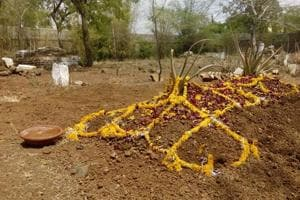 The Peerbagh graveyard where Zafar Hussain was laid to rest.
