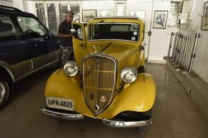Gyan Sharma (above) says it takes anything between two and 15 years to restore a vintage car. All these efforts at collection and preservation will be worthless if a person is not allowed to drive these cars even occasionally.