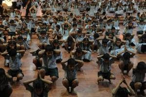 The state and centre have been insisting on practising yoga in schools since last year after the United Nations adopted an India-led resolution declaring June 21 as Yoga Day.