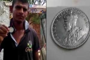 In a bizarre incident, silver coins dating back to the early 1990s...