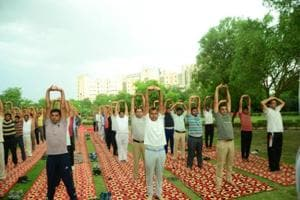 International Yoga Day: Delhi Police personnel take up yoga to counter...