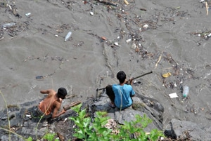 Trickling sullage from towns polluting rivers in Himachal