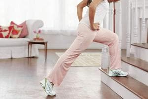 The staircase work out helps build core strength, stamina, and tones muscles.