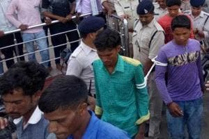 The 15 youths who were charged with sedition in Madhya Pradesh's Burhanpur on Tuesday.