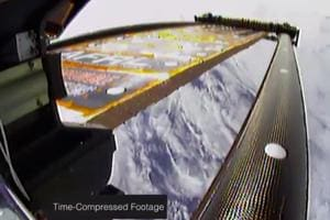 NASA testing 'roll-up' solar panels on International Space Station