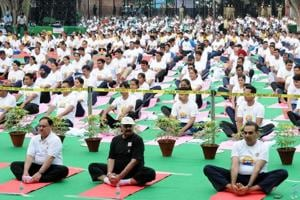 Yoga best way to gain happiness: Union health minister JP Nadda on...