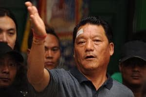 Bimal Gurung, head of the Gorkha Janmukti Morcha (GJM) that seeks the creation of a separate state of Gorkhaland.