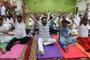 InternationalYoga Day:Noida students, jail inmates take up the...