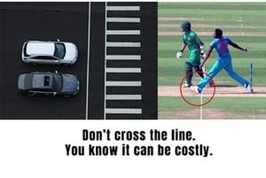 'Don't cross the line...it can be costly': Jaipur traffic police meme...