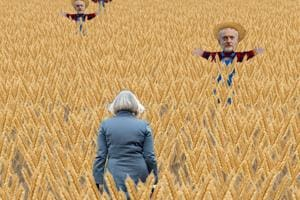 The user, playing the role of May, has to avoid running into scarecrows placed in the fields.