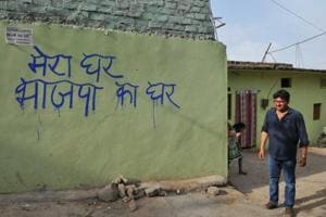 My house belongs to BJP: Message on wall upsets Bhopal locality