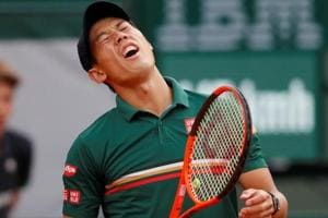 Kei Nishikori retires injured at Halle Open as Wimbledon looms