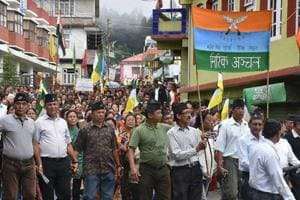 GJM supporters take out a rally to demand for separate state