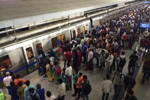 Delhi metro Blue Line slows down in peak hours due to maintenance work...