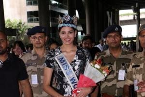 Miss World Stephanie Del Valle arrives in Mumbai for five-day visit