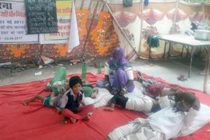 Dalit kids on hunger strike for 22 days, seek probe into father's...