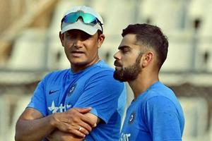 Anil Kumble (L), seen here with Virat Kohli , resigned as the coach of the Indian cricket team earlier this week.