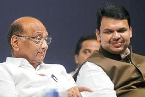 Sharad Pawar, Devendra Fadnavis meet on farm loan waiver