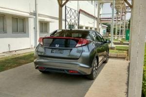 The 2017 Honda Civic spotted at the HCIL Tapukara factory on Wednesday.