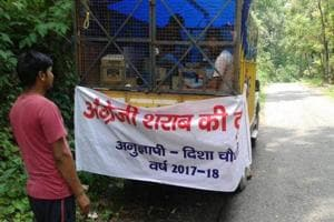 Lalkuan Nagar Panchayat chairman asks mobile liquor van to go away
