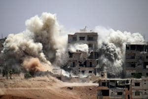 472 civilians dead in month of US-led Syria strikes: Human rights...
