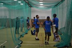 India practice indoors as rain looms large ahead of second ODI vs....