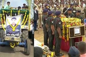 Last rites of fallen soldier Sandip Jadhav was performed with full...
