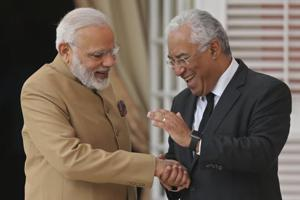 Portuguese PM treats Modi with special Gujarati vegetarian lunch