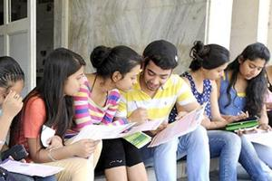 The offline admission process for the new academic session begins at the Delhi University North Campus in New Delhi on Friday.